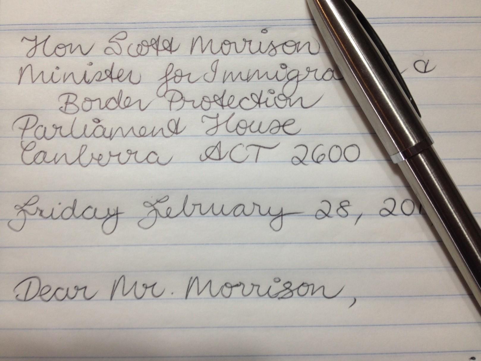 Australian Deported Letter Sample